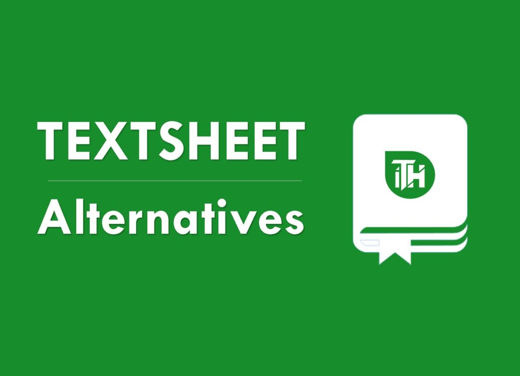 Textsheet alternatives 2020