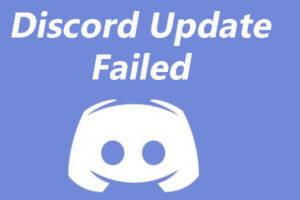 Discord Update Failed
